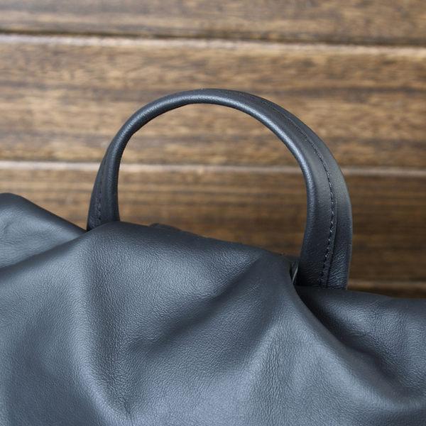 羊皮手提後背包  真皮拉鍊雙肩背包 中性防偷包 大容量旅行包 現貨+預購【Solomon 皮件設計】BB10012