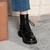 真皮馬丁靴女8孔六孔春秋單靴短靴大碼【小酒窩服飾】