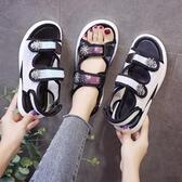 快速出貨 平底涼鞋 夏季 ins平底仙女風運動網紅時尚百搭學生超火 涼鞋女潮鞋