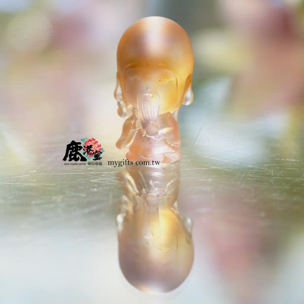 鹿港窯-居家開運水晶琉璃擺飾-Q版好神公仔~福壽達人-南極仙翁