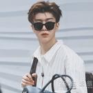 韓版方形小框男士開車墨鏡潮流時尚復古街拍風防紫外線太陽眼鏡女 小時光生活館