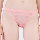 思薇爾-星願秘密系列M-XL蕾絲低腰三角內褲(霓粉橘)