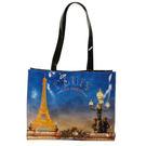 GINZA U法國Souvenirs巴黎棉織側背包/大提包(巴黎鐵塔款)030503-1
