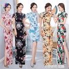 新款改良版旗袍顯瘦修身年輕款連身裙少女裝潮 旗袍 奇妙商鋪