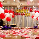 玫瑰花瓣仿真婚房裝飾生日布置婚禮現場結婚