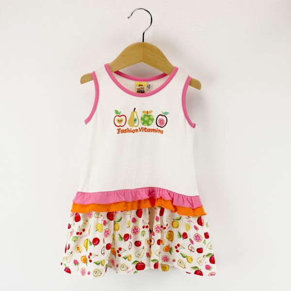 【愛的世界】圓領水果百匯背心洋裝/2~4歲-台灣製- ★春夏洋裝