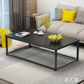 茶幾簡約現代客廳ins小戶型茶桌簡易長方形輕奢小桌子經濟型鐵藝 PA12429『男人範』