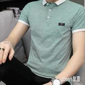 青年POLO衫 男士短袖T恤夏季純棉韓版有領上衣服潮流新款個性修身BP1305【Sweet家居】