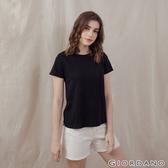 【GIORDANO】 女裝素色竹節棉T恤 - 19 標誌黑