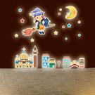 Loxin 創意可移動壁貼 月亮女孩【SF0394】DIY組合壁貼/壁紙/牆貼/背景貼