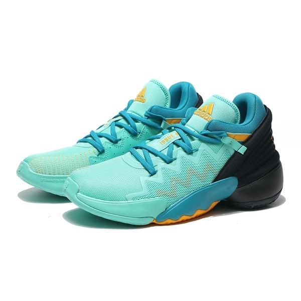ADIDAS 籃球鞋 D.O.N. ISSUE 2 AVATAR 藍綠 黑 網布 避震 運動 男 (布魯克林) FZ4408