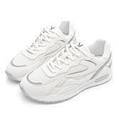 PLAYBOY 經典復古 真皮運動休閒鞋-白灰(Y7311)