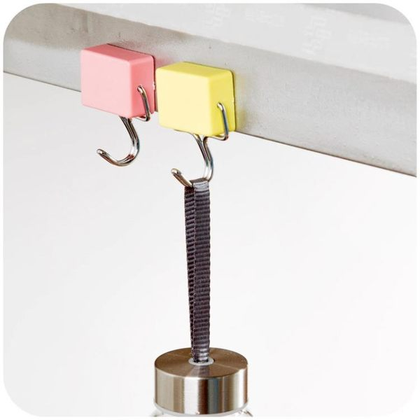 [超豐國際]免釘磁鐵掛鉤超強吸力廚房冰箱無痕鉤創意壁掛免打孔小掛勾