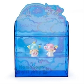 〔小禮堂〕雙子星 造型塑膠雙層置物櫃附公仔《深藍》收納櫃.展示櫃.迷夜星辰系列 4901610-57772