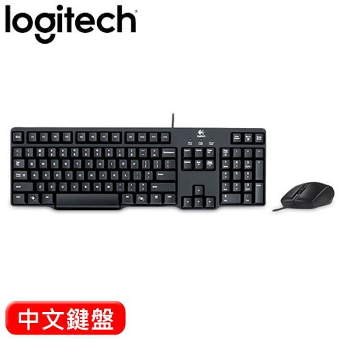 Logitech 羅技 MK100 2代有線鍵盤滑鼠組 中文