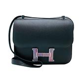 【台中米蘭站】全新展示新品 Hermes 限量款 Constance 24 Epsom 肩背/斜背包(黑)