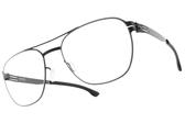 Ic! Berlin光學眼鏡 MITTE BLACK (霧黑) 率性雙槓經典框- 薄鋼眼鏡 # 金橘眼鏡