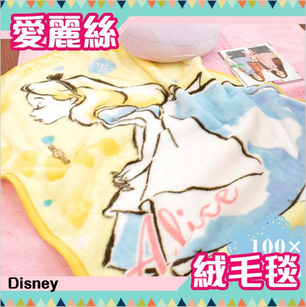 迪士尼公主 毛毯 單人毯 膝上毯 愛麗絲 珊瑚絨毛 舒服柔軟 Disney 日本正版 該該貝比日本精品 ☆