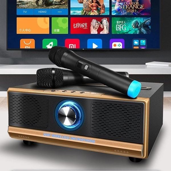 【Love Shop】QQ家庭版 貓頭鷹麥克風 無線雙人麥克風/手機電腦家用兒童智能電視機卡拉ok/藍牙音箱