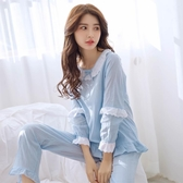 韓版純棉睡衣女春秋季長袖長褲兩件套裝甜美可愛學生家居服可外穿 居享優品