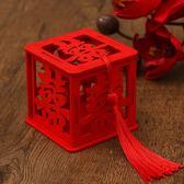創意婚禮喜糖盒木盒50個小號木質雕刻糖果包裝盒個性結婚喜糖盒子 童趣潮品