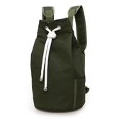新款潮帆布包男包水桶包後背包運動大容量健身包水桶籃球包【快速出貨】
