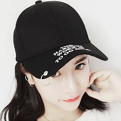 鴨舌帽 鐵環字母男女嘻哈帽 (3款)【Ann梨花安】