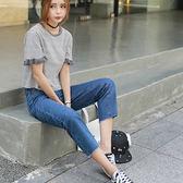 雙11鉅惠 孕婦牛仔褲春秋2018新款外穿寬鬆闊腿褲時尚大碼托腹孕婦九分褲 森活雜貨
