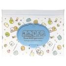 小禮堂 角落生物 防水濕紙巾包夾鏈袋 抽取式收納袋 濕巾包 面紙包 (M 白) 4522654-11373