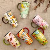 陶瓷杯咖啡杯茶杯 大容量創意潮流水杯帶蓋