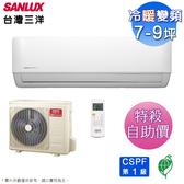 (自助價)台灣三洋7-9坪一級變頻冷暖分離式冷氣SAE-V50HF+SAC-V50HF