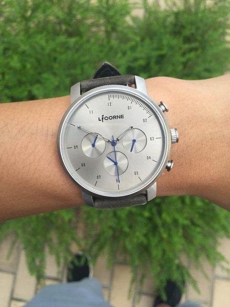 【LICORNE】MYO系列 精工品味三眼手錶 (銀灰/深灰 LT124MWU_MUCL)