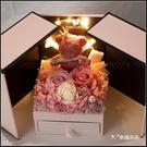 現貨 花環燈小熊永生花禮盒 雙開抽屜禮盒 (附贈提袋) 生日禮物 情人節禮物 送女友禮物 告白 求婚