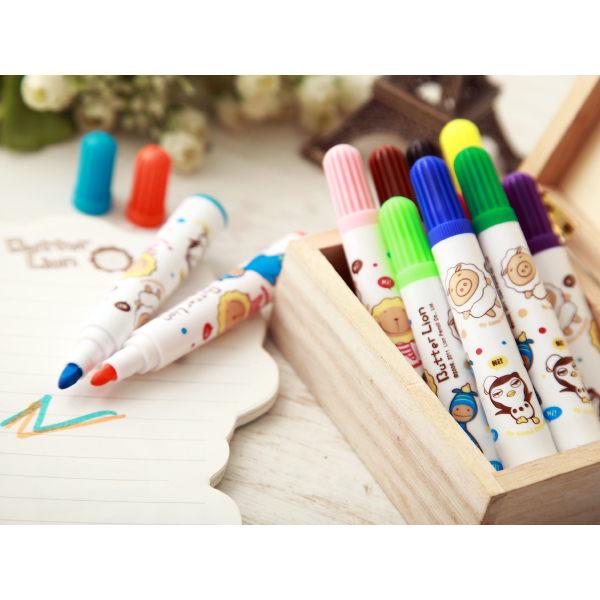 奶油獅36色彩色筆(果凍塑盒系列)