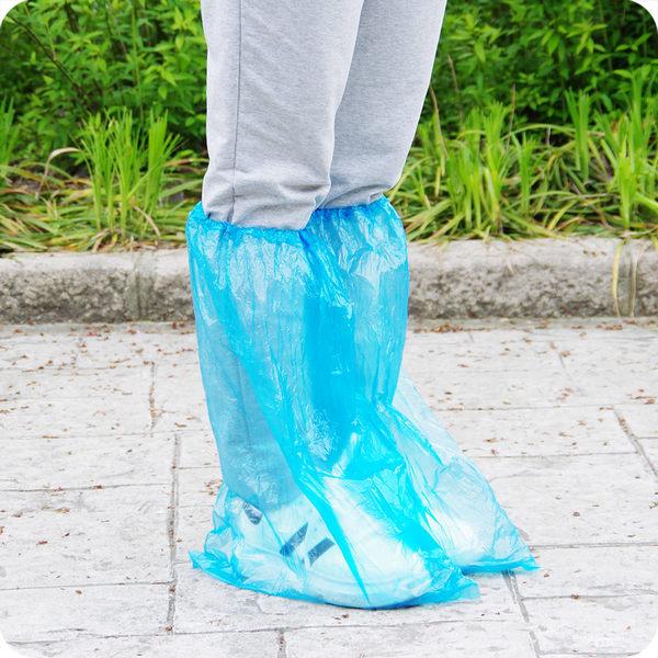 高筒一次性鞋套 加厚塑料男女士防雨鞋套 防滑漂流雨天防水鞋套