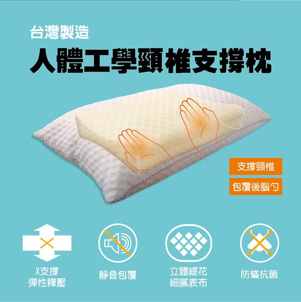 *華閣床墊寢具*人體工學頸椎支撐枕 台灣製