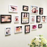 交換禮物 眉眼唇裝飾畫掛畫紋繡海報宣傳圖紋繡美睫美甲相框韓式半永久海報WY
