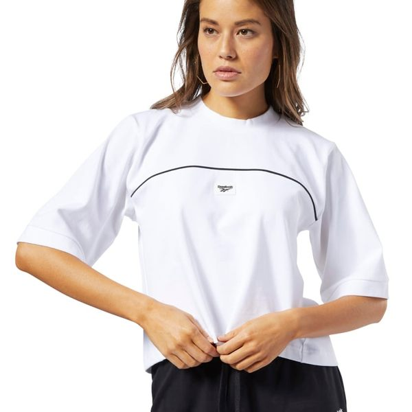 REEBOK CLASSICS ADVANCE TEE 女裝 短袖 休閒 短版 穿搭 白【運動世界】EB5110