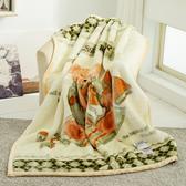 HO KANG 新合纖技術單人雙層柔軟毛毯--快樂熊