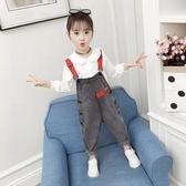 女童吊帶褲春裝兒童韓版牛仔褲2020新款小女孩時髦褲子洋氣童裝潮
