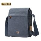【TROOP】經典品格CLASSIC單肩包/TRP0242BL(藍色)