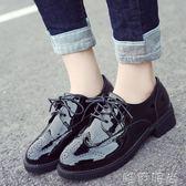 小皮鞋 黑色小皮鞋女英倫風復古學院韓版學生平底休閒皮鞋女冬新款潮 唯伊時尚
