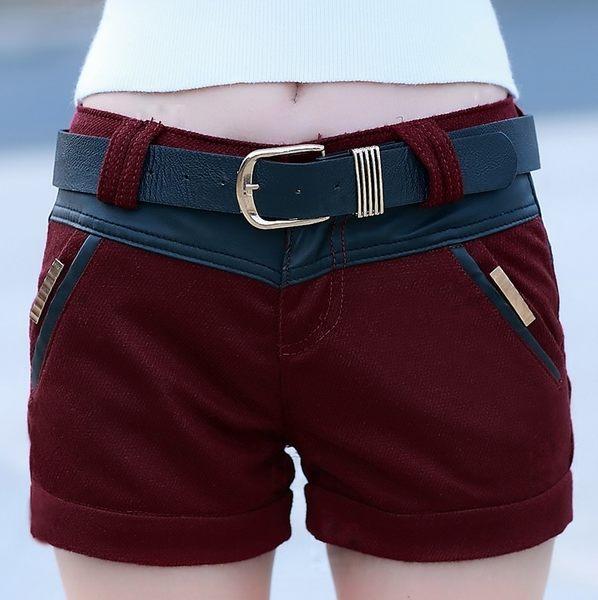 【AU11】呢子褲裙新款2016秋裝女裝韓版修身毛呢短褲女褲夏季包臀半身裙褲