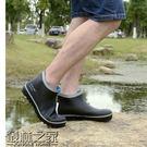 夏季短筒橡膠雨鞋男女低筒雨靴親子輕便防滑防水膠鞋男套鞋【叢林之家】