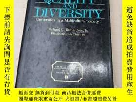 二手書博民逛書店ACHIEVING罕見QUALITY AND DIVERSITYY250748