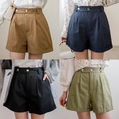 MIUSTAR 雙釦鬆緊腰反褶斜紋布探險家短褲(共5色,M-L)【NJ0156】預購