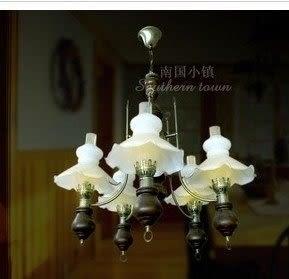 設計師美術精品館創意吊燈飾 美式鄉村田園懷舊簡約吊燈 客廳餐廳臥室書房裝飾吊燈