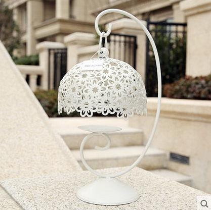 F0578 迷妝 創意家居裝飾品浪漫燭光晚餐燭台擺設 韓式縷空雕花鐵藝燭台