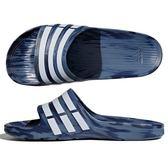 Adidas Duramo Slide 男 女 藍 白 愛迪達 經典休閒拖鞋 拖鞋 便鞋 CQ0136