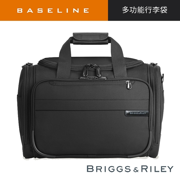 【終身保固 Briggs & Riley BR221-4】Baseline系列手提/肩背隨身行李袋(黑)